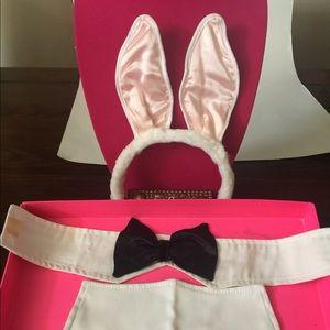 Accessories - Tuxedo Bunny Black Bow Collar White Cuffs w Velcro